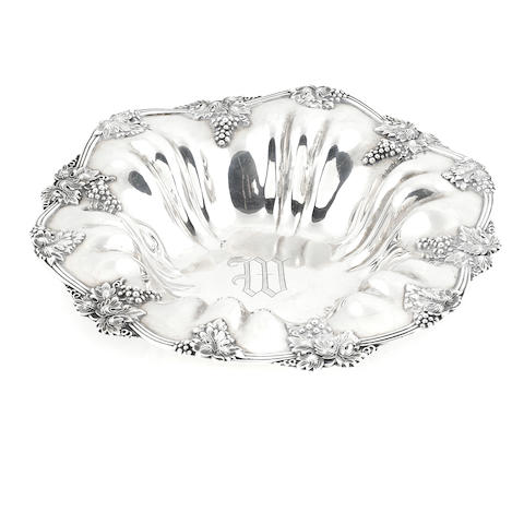 An American sterling silver fruit bowl 20th century