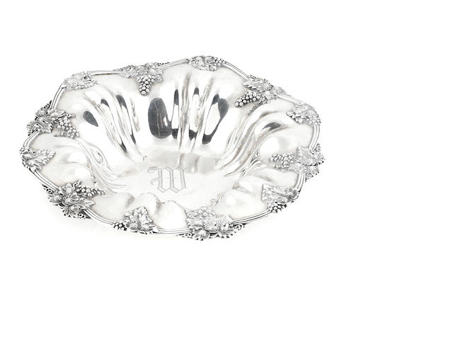 An American sterling silver fruit bowl
