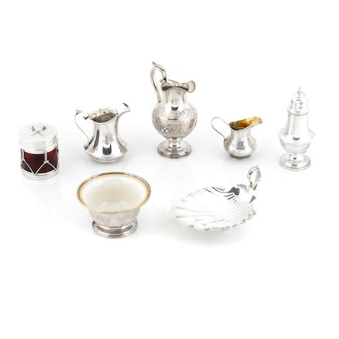 A group of American silver hollowware