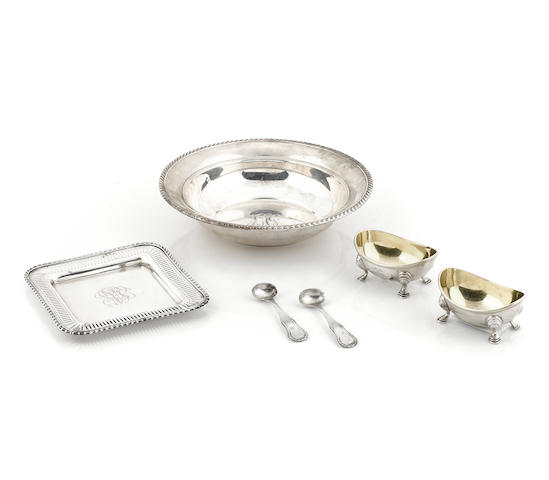 An International group of silver  tableware