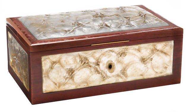 A 'Monnaie Du Pape' box by René Lalique, c. 1920s