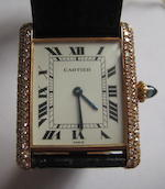 Cartier, Paris. A fine 18K diamond set Tank wristwatchRef:960190039J