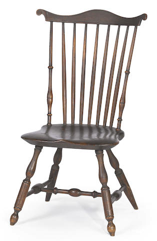 A mixed-woods fan-back windsor side chair<BR />Lancaster county, Pennsylvania<BR />1795-1805
