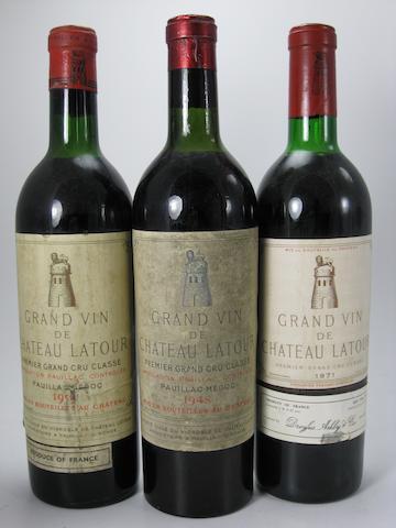 Château Latour 1948 (1)<BR />Château Latour 1959 (1)<BR />Château Latour 1971 (2)