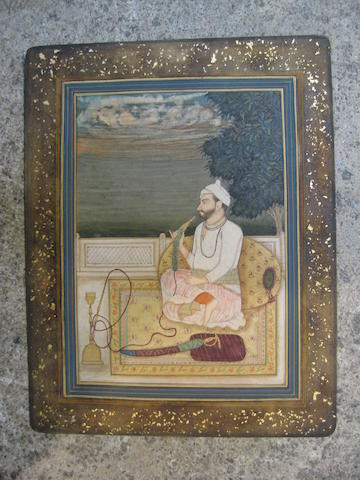 A portrait of a ruler Kangra or Guler, Sikh period, mid-late 19th century