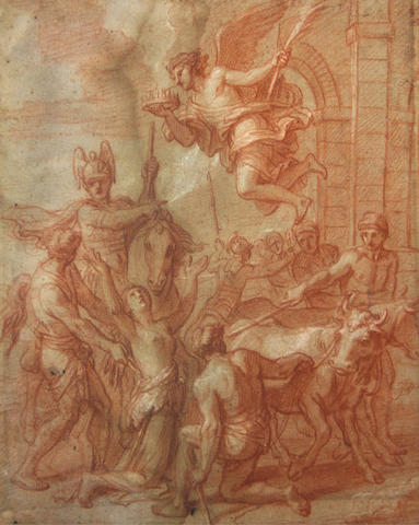Italian School SENDING TO CRISPIAN Martyrdom of a saint 11 3/4 x 10in (29.9 x 25.3cm) unframed