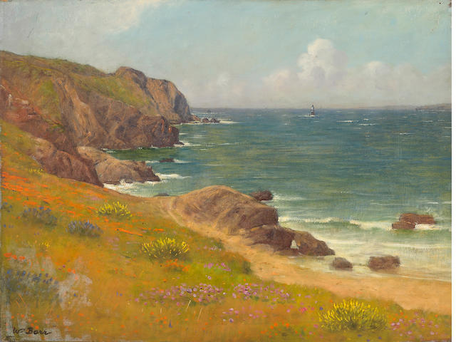 William Barr (British/American, 1867-1933) Mile rock, Sea Cliff, San Francisco 18 x 24in