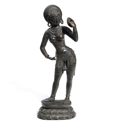 A bronze standing Thai figure
