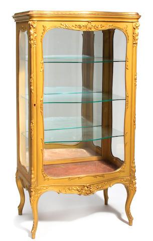A Louis XV style giltwood vitrine