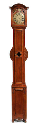 A French fruitwood tallcase clock