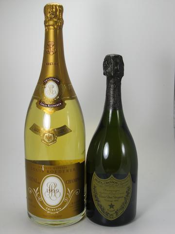 Deutz Champagne, Brut Classic NV (1 magnum)<BR />Dom Pérignon Vintage Champagne 1988 (1)<BR />Dom Pérignon Vintage Champagne 1990 (1)<BR />Louis Roederer Vintage Champagne, Cristal 1999 (1 magnum)<BR />Moët & Chandon Champagne, Brut Impérial NV (1)