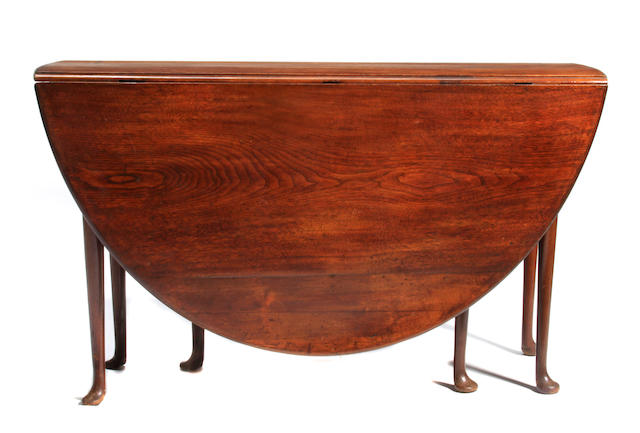 A George II mahogany drop leaf gateleg table