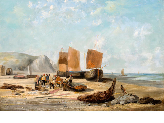 W. Shayer, Coastal Scene, oil on canvas