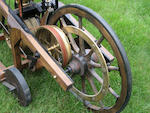 A fine full size static replica of an 1885 Daimler Reitwagen,