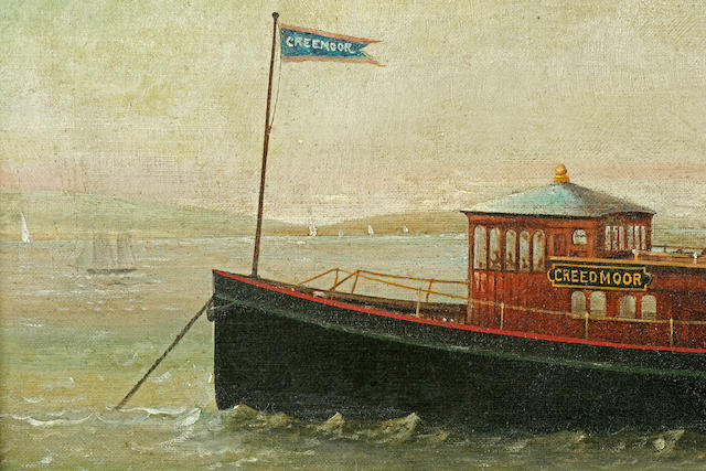 Oil on Canvas of the Yacht Creedmore