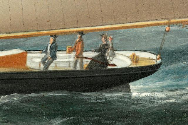 Conrad Freitag (American, 1845-1894) The New York pilot boat Favorita<BR /> 24-1/2 x 36-1/2 in. (62.2 x 92.7 cm.)