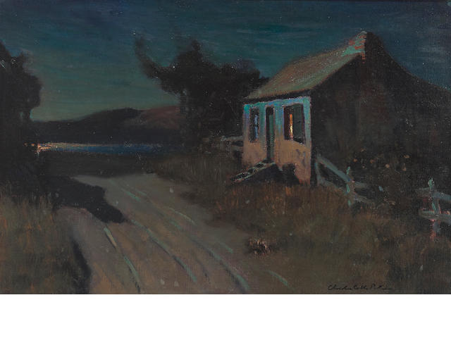 Charles Rollo Peters, Chez Nous, Oil on Canvas, 16 x 24 1/4in