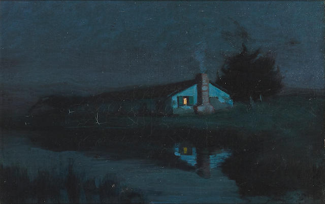 Charles Rollo Peters, Casa de Laguna - Monterey Dwelling, Oil on Canvas, 1899, 13 1/2 x 21 3/8inc