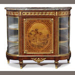 A Louis XVI style gilt bronze mounted marquetry meuble d'appui side cabinet   late 19th century