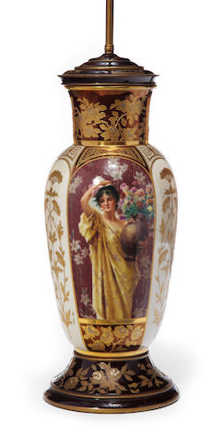 A Royal Vienna polychrome enamel and gilt vase <BR />late 19th century