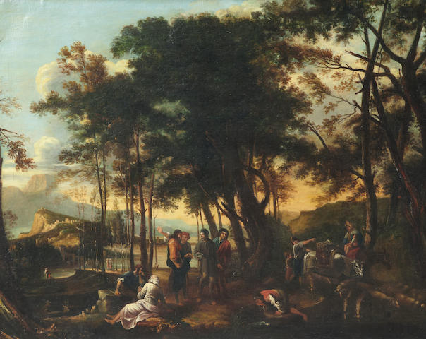 After Salvator Rosa The philosopher's wood 39 1/4 x 50in