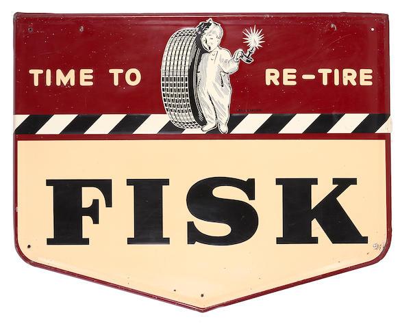 A rare Fisk Tires sign, c. 1948,