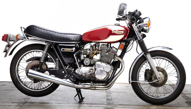 1975 Triumph T160 Frame no. T160 AK00795 Engine no. T160 AK00795