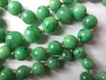 A jadeite graduated bead necklace