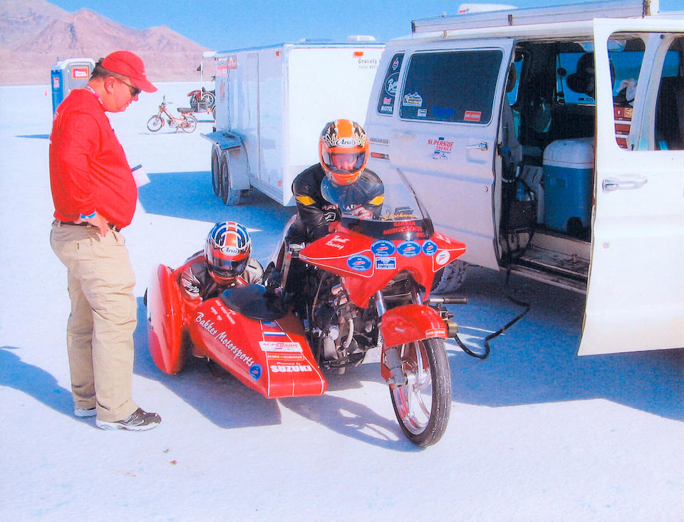 Bonneville for two,2002 Suzuki Hayabusa Land-Speed Sidecar