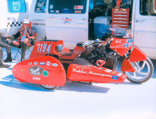 Bonneville for two,2002 Suzuki Hayabusa Land-Speed Sidecar