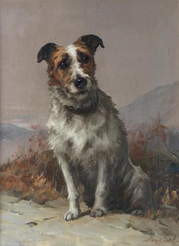 Maud Earl (British, 1863-1943) Plus je vois les hommes, plus j'admire les chiens 24 1/4 x 18 in. (61.5 x 45.5 cm.)