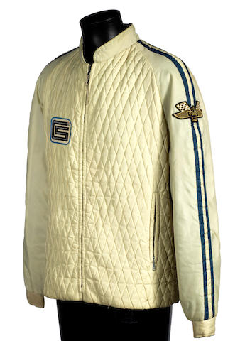 Formerly the Property of the late Ken Miles:  A Shelby American Ford GT40 Team jacket by Martin of California, 1965,