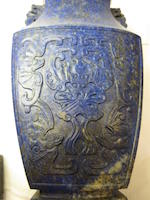 A lapis lazuli covered urn<BR />18th/19th century