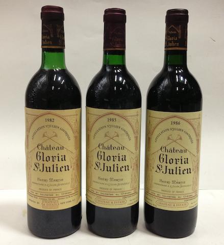 Château Gloria 1982 (6)  Château Gloria 1985 (10)  Château Gloria 1986 (6)