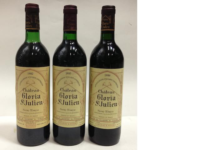 Château Gloria 1982 (6)<BR />Château Gloria 1985 (10)<BR />Château Gloria 1986 (6)