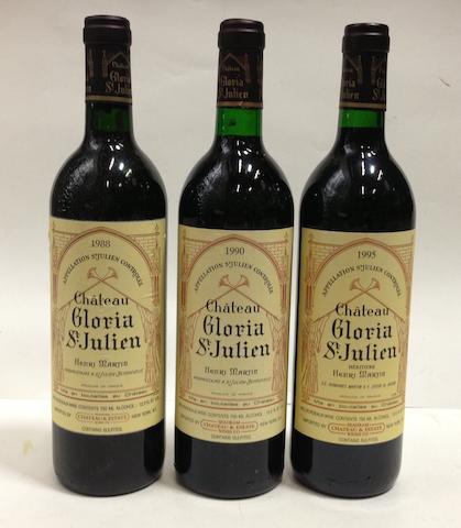 Château Gloria 1988 (4)<BR />Château Gloria 1990 (5)<BR />Château Gloria 1995 (5)