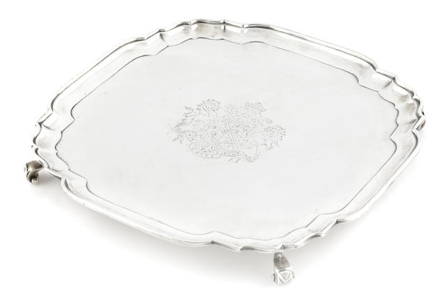 A George IV sterling silver footed salver, Charles Price, London, 1825