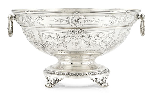 An American  sterling silver  circular footed centerbowl by Gorham Mfg. Co., Providence, RI, 1919