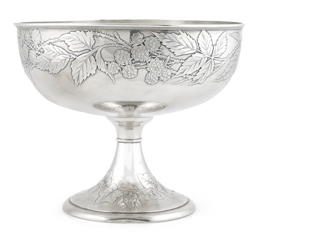 A Gorham sterling silver footed bowl with case, 23 oz troy