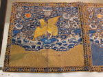 A group of seven embroidered silk rank badges Late Qing/Republic period