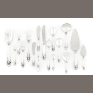 An extensive Wallace Grand Baroque flatware service