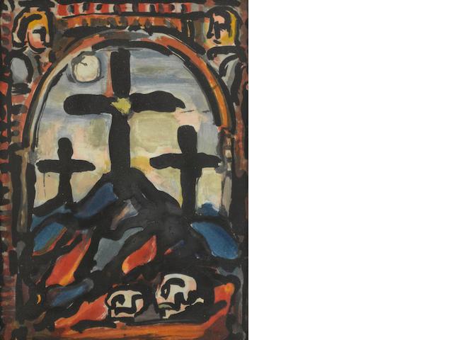 Georges Rouault (French, 1871-1958); Les Trois Croix, from Les Fleurs du Mal;