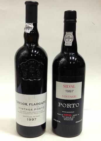 Taylor Fladgate Vintage Port 1997 (7)<BR />Quinto do Noval Vintage Port, Silval 1997 (5)