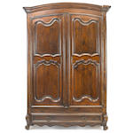 A Louis XV walnut armoire <BR />second quarter 18th century