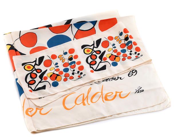 Two Alexander Calder silk textiles 1969