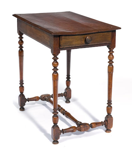 A Louis XV style fruitwood side table
