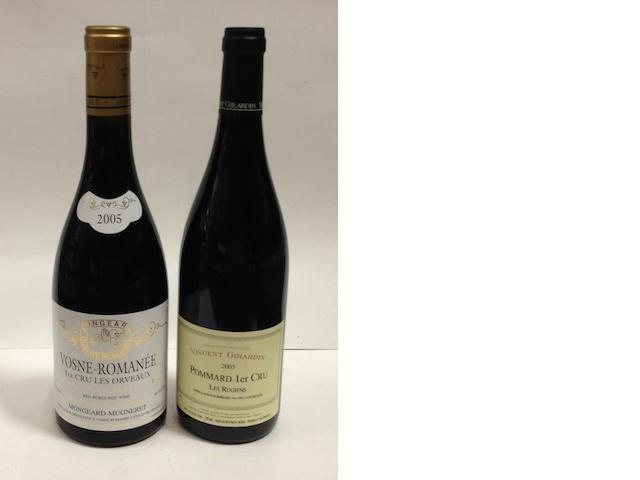 Vosne-Romanée Les Orveaux, Mongeard-Mugneret 2005 (6)<BR />Pommard Les Rugiens, V. Girardin 2005 (4)