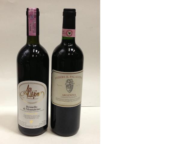 Brunello di Montalcino 2001 (4)<BR />Chianti Classico Argenina 2004 (6)