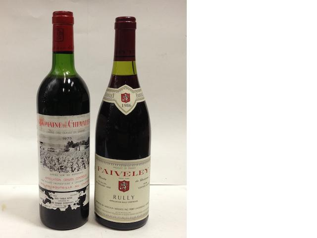 Domaine de Chevalier 1975 (2)<BR />Rully, Faiveley 1986 (9)