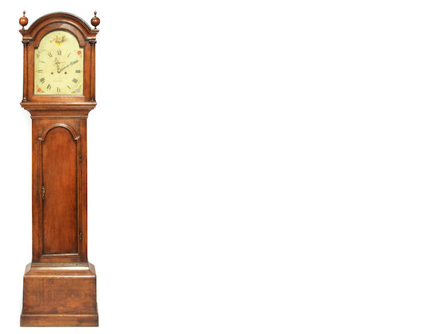 A George III Provincial oak tallcase clock